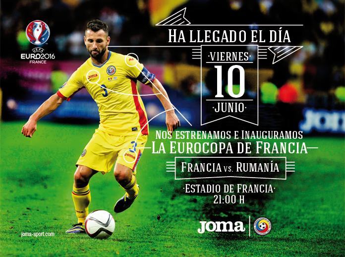 Ha llegado el día, Joma y Rumanía inauguran la Eurocopa