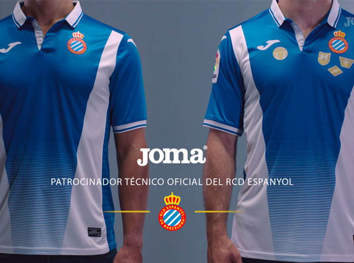 Joma, as technical sponsor of RCD Espanyol, presents the official shirt for the 2017/2018 season.